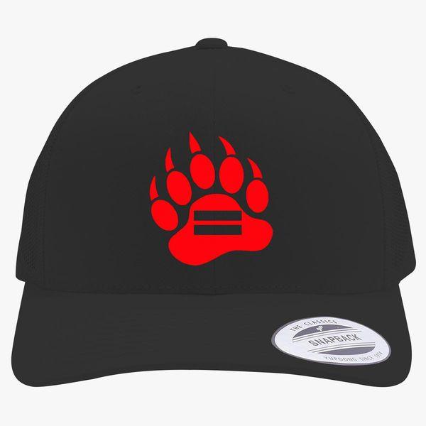 1aaa4767 Red Bear Paw Retro Trucker Hat (Embroidered) - Customon