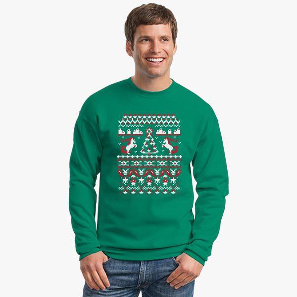 Pokemon Christmas Sweater.An Ugly Pokemon Christmas Crewneck Sweatshirt Customon