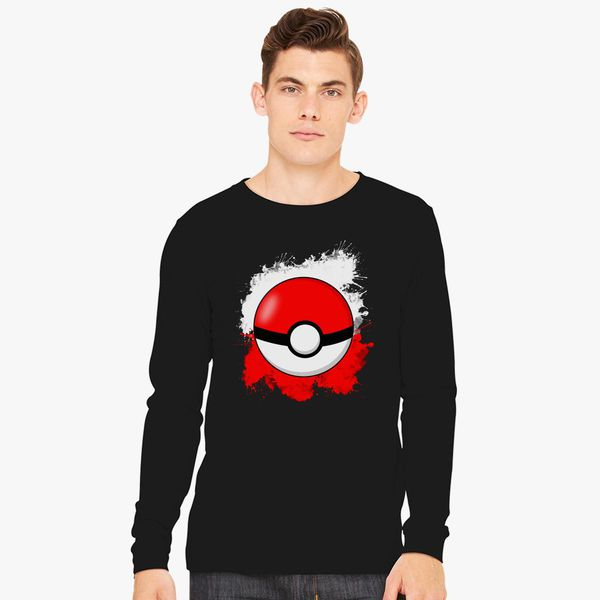 cd991d2c Pokemon Pokeball Splash Long Sleeve T-shirt - Customon