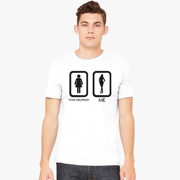 a6115b97fa171 Your Girlfriend vs Me Men s T-shirt - Customon