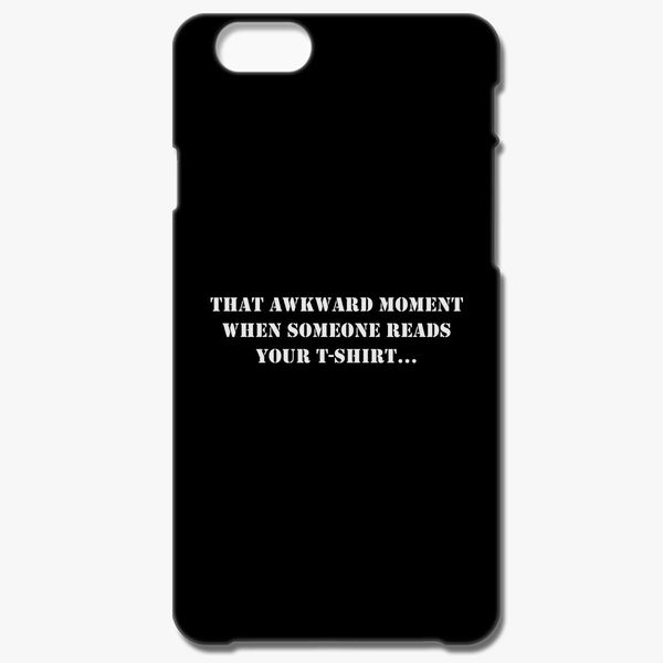 reputable site 8f8c6 fd772 AWKWARD MOMENT SLOGAN iPhone 8 Plus Case - Customon