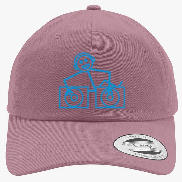 DJ Club dance rave music house cool funny retro Hooj choons tunes Cotton  Twill Hat (Embroidered) - Customon