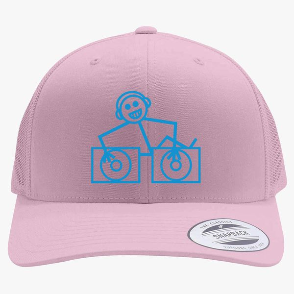 DJ Club dance rave music house cool funny retro Hooj choons tunes Retro  Trucker Hat (Embroidered) - Customon