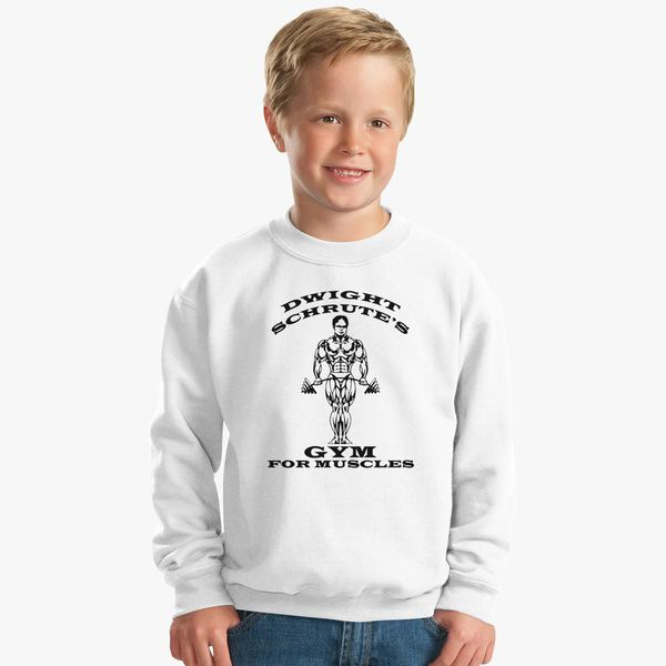 f0732921 Dwight Schrute's Gym For Muscles Kids Sweatshirt - Customon