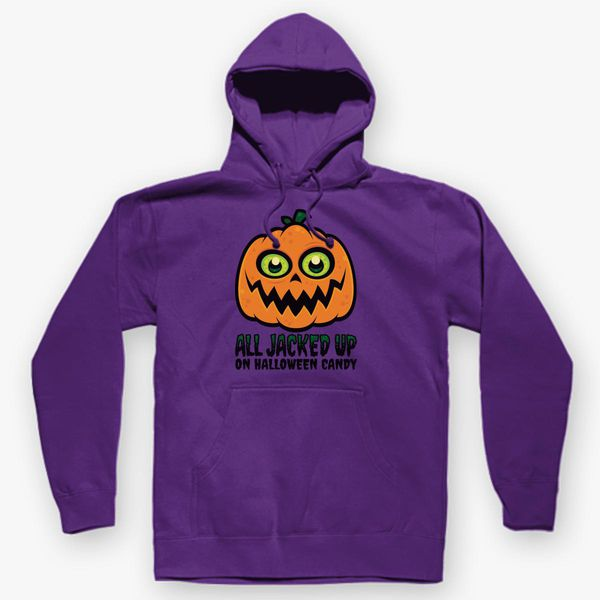 4aa96aada All Jacked Up on Halloween Candy Jack-O'-Lantern Unisex Hoodie ...