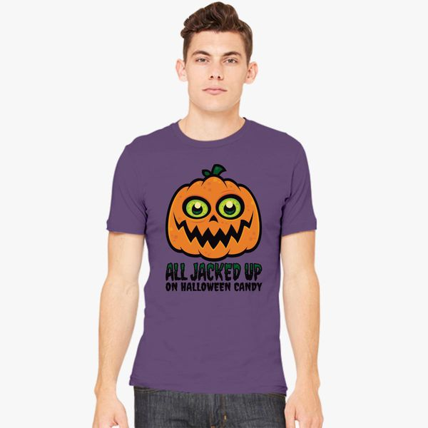 06d743f50 All Jacked Up on Halloween Candy Jack-O'-Lantern Men's T-shirt ...