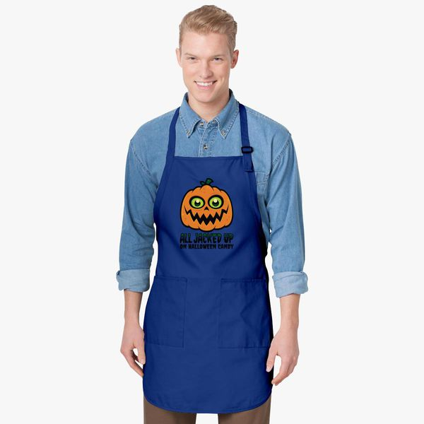 c6ff30916 All Jacked Up on Halloween Candy Jack-O'-Lantern Apron - Customon