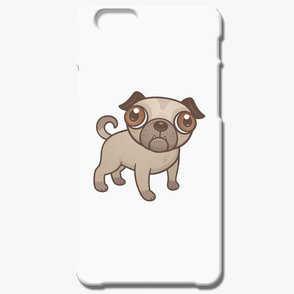 Pug Puppy Cartoon iPhone 8 Plus Case - Customon