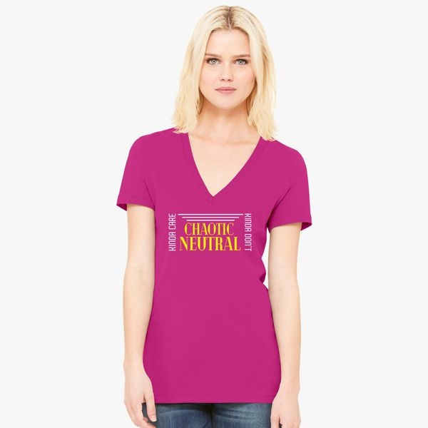 947a61334725 Chaotic Neutral Women's V-Neck T-shirt - Customon