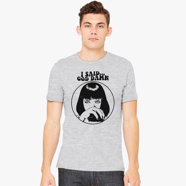 e8fefe434 Pulp Fiction - Mia Wallace - God Damn Men's T-shirt - Customon