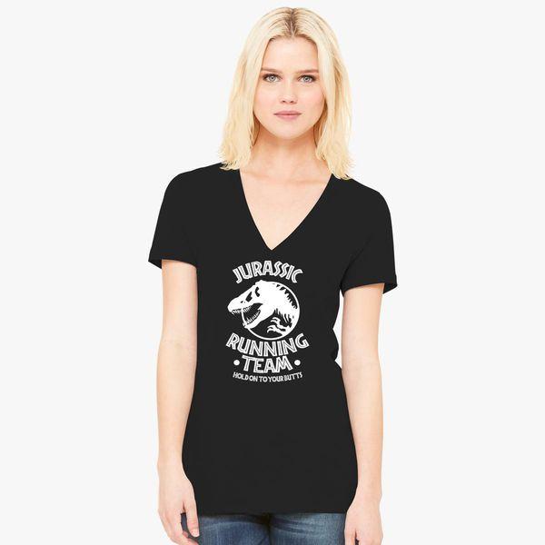 adc00008c Running J Team Women's V-Neck T-shirt - Customon