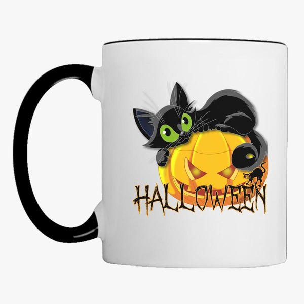 Halloween Black Cat Coffee Mug Customon Com