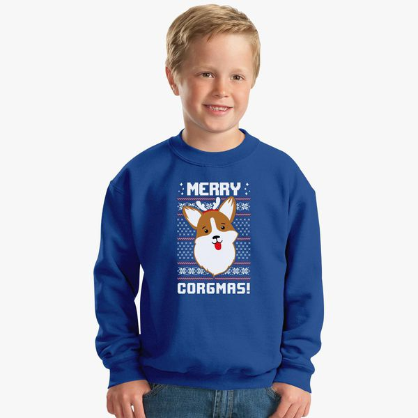 MULTIPLE COLORS Merry Corgimas Christmas Corgi Unisex Sweatshirt