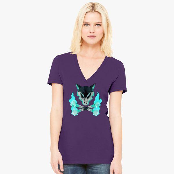 06e030d05 Pokemon - Alolan Marowak Skull Women's V-Neck T-shirt - Customon