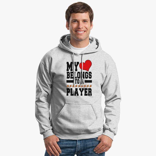 Buy Heart Belongs Football Unisex Hoodie, 353466