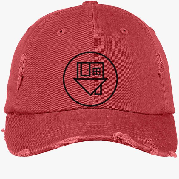 The Neighbourhood Distressed Cotton Twill Cap - Embroidery +more dae9ad7e64f0