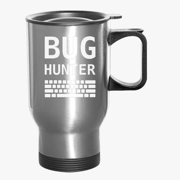 BUG HUNTER with Keyboard Travel Mug - Customon