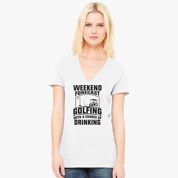 Funny Golf Lover Quotes Women S V Neck T Shirt Customon