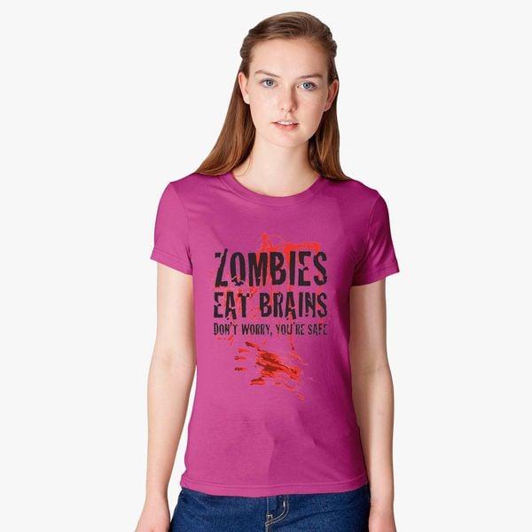 5d7936176 Zombie eat brains Women's T-shirt - Customon