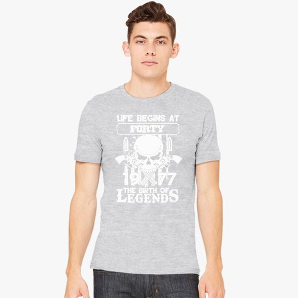 Awesome Shirts Funny Legends December 1977 Life Begins at 41