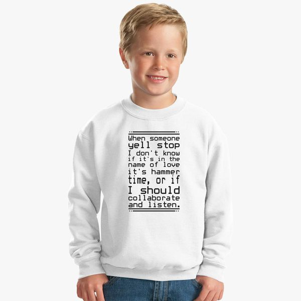 feecd3a08 The 30 Most Articulate Shirts Of All Time Kids Sweatshirt - Customon