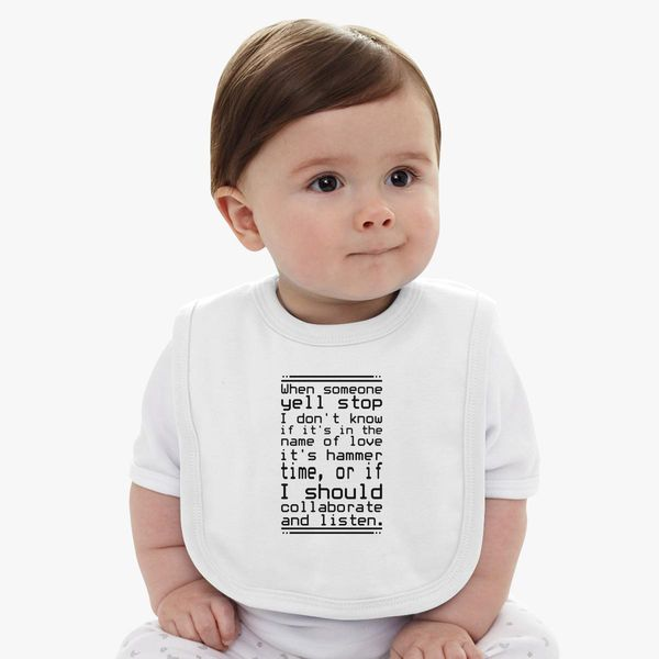 fbf025783 The 30 Most Articulate Shirts Of All Time Baby Bib - Customon