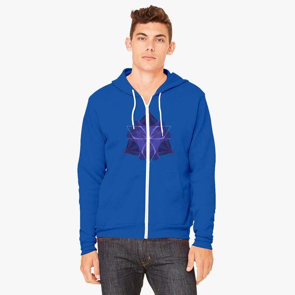 Buy Fractal Unisex Zip-Up Hoodie, 405345