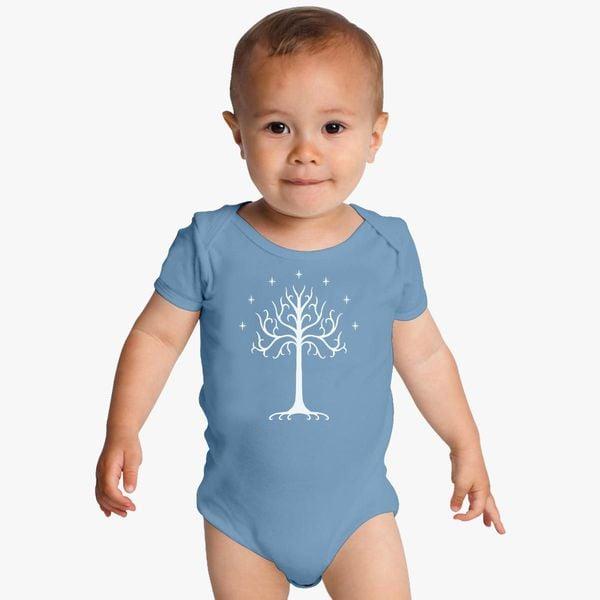 1123da871 White Tree Of Gondor The Rise Of Mordor Baby Onesies - Customon