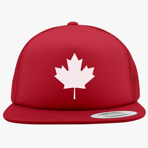 0775889fe Canadian Maple Leaf Foam Trucker Hat - Customon