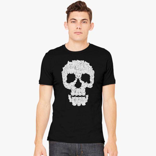 c0528df0 Funny Skull Cats Men's T-shirt - Customon