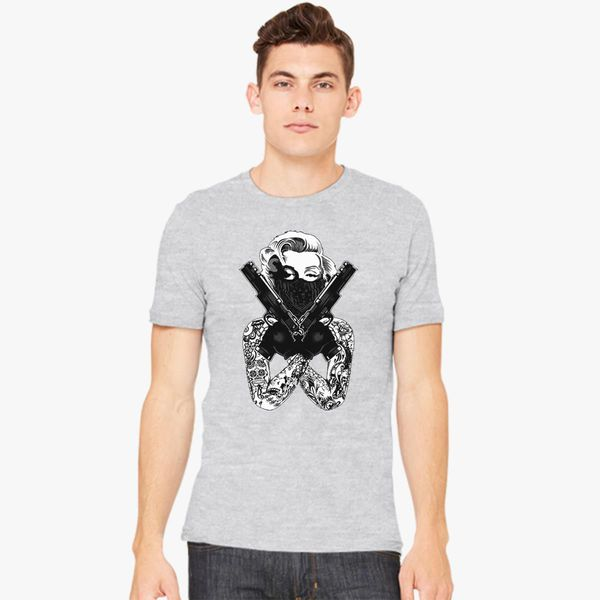 d31b732383077a Marilyn Monroe Gun Men s T-shirt - Customon