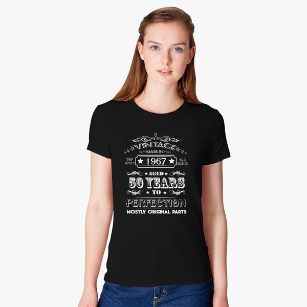 Vintage Age 50 Years 1967 Perfect 50th Birthday Womens T Shirt