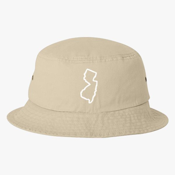 54817942ece New Jersey Map Bucket Hat (Embroidered) - Customon
