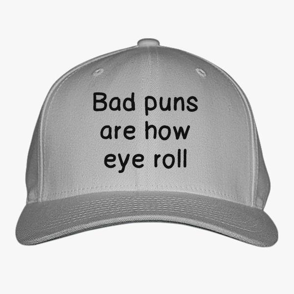 Bad Puns are How Eye Roll Mesh Baseball Cap Girls Adjustable Trucker Hat Black