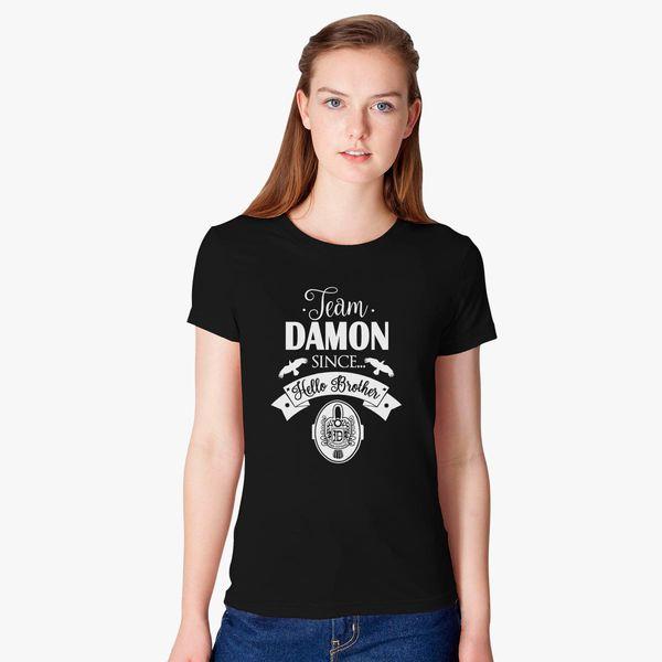 c48e55a0071c Team Damon Since Hello Brother White Women s T-shirt - Customon