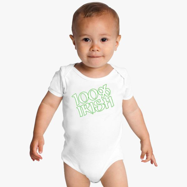 e81409efe 100% Irish Baby Onesies - Customon