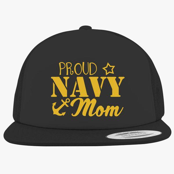 fe592bcad84 Proud Navy Mom Foam Trucker Hat