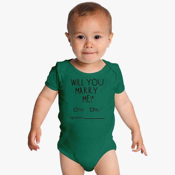 aa8ee6cb2 Will You Marry Me Baby Onesies - Customon.com