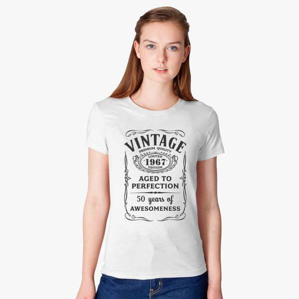 1db06b846 Vintage Limited 1967 Edition - 50th Birthday Gift Women's T-shirt ...