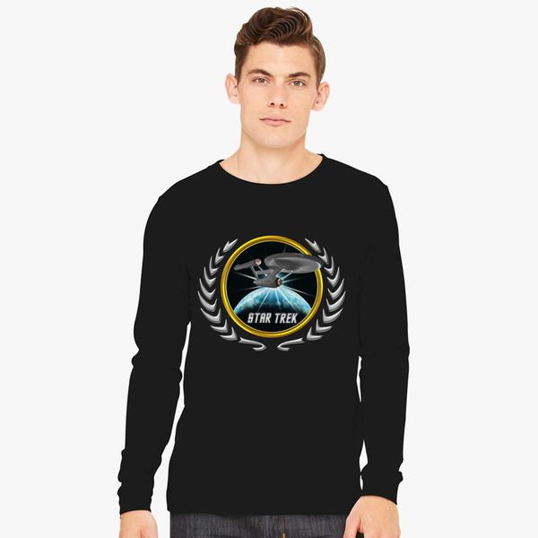 Buy Star trek Federation Planets Enterprise 1701 old 2 Long Sleeve T-shirt, 525878