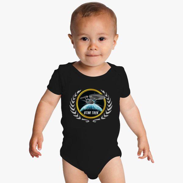 Buy Star trek Federation Planets Enterprise 1701 old 2 Baby Onesies, 525902