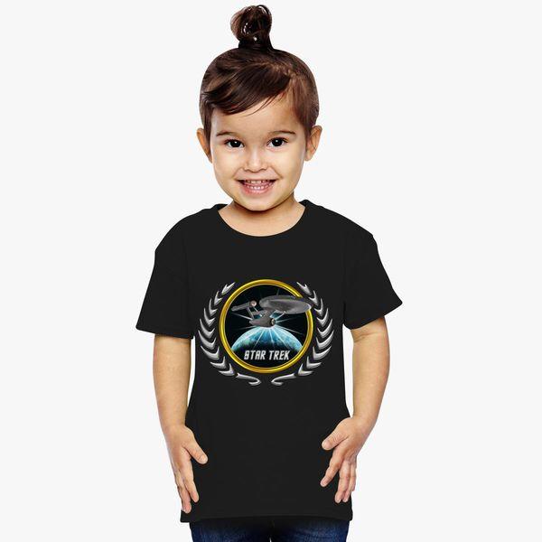 Buy Star trek Federation Planets Enterprise 1701 old 2 Toddler T-shirt, 525907