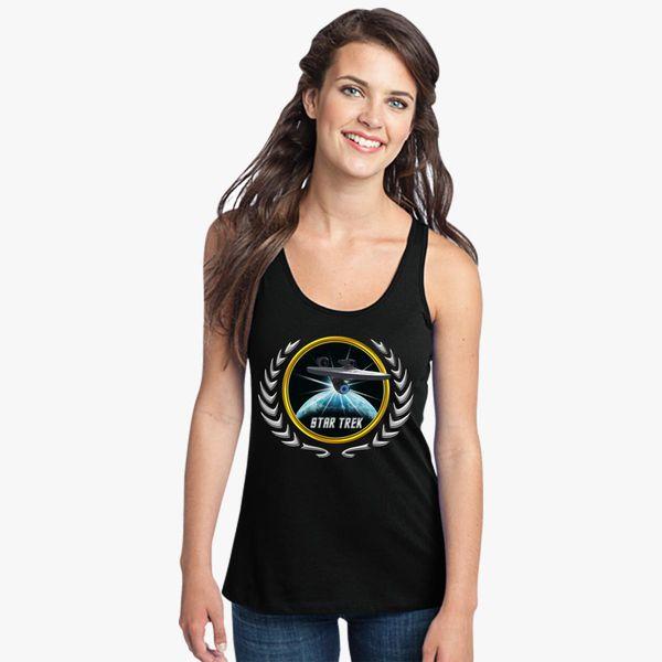 Buy Star trek Federation Planets Enterprise 2009 2 Women's Racerback Tank Top, 526321