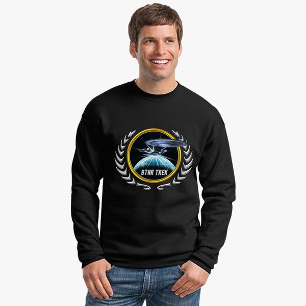 Buy Star trek Federation Planets Enterprise D 2 Crewneck Sweatshirt, 526616