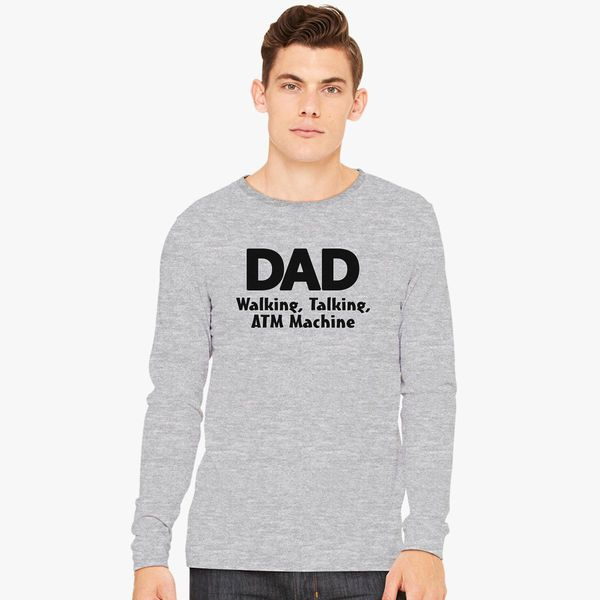 Mens Long Sleeve Cotton Hoodie DAD Walking Talking ATM Machine.png Sweatshirt