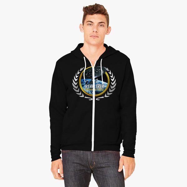 Buy Star trek Federation Planets Enterprise 1701 D 2 Unisex Zip-Up Hoodie, 537164