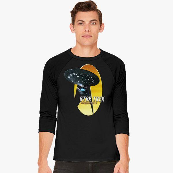 Buy Star Trek Nemesis Enterprise 1701 D Baseball T-shirt, 538741