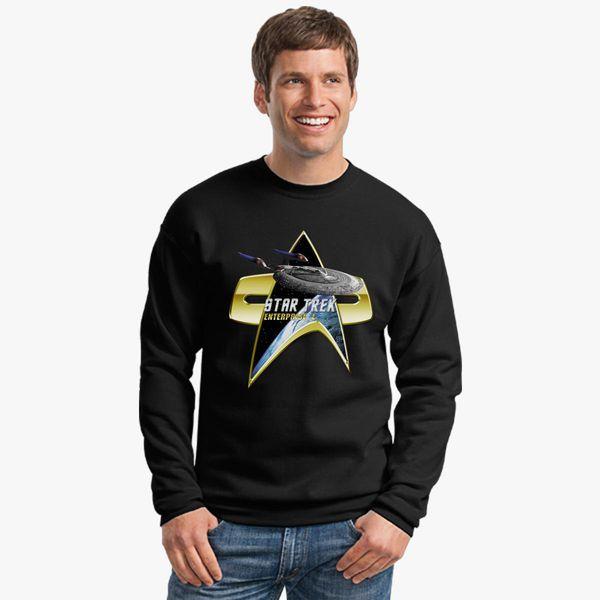 StarTrek Enterprise E Com badge Crewneck Sweatshirt  bfbfb117825