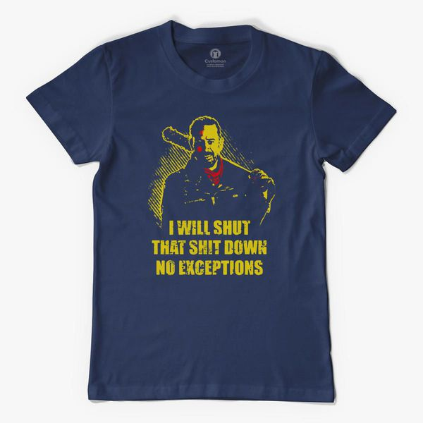 Gift Dad for Fathers Day I Will Shut That Shit Down No Exceptions Gift for Daddy Unisex T-Shirt