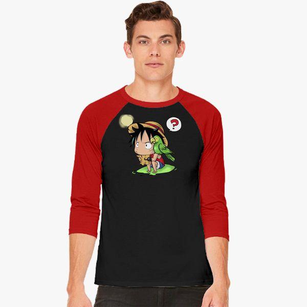 9a096a170221 Cute Luffy - One piece Baseball T-shirt - Customon